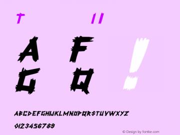 Talkin 1 Italic 1.0 Tue May 02 09:41:49 1995 Font Sample