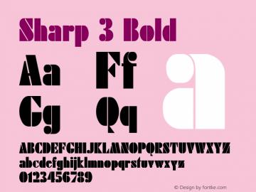 Sharp 3 Bold 1.0 Tue May 02 09:44:08 1995 Font Sample