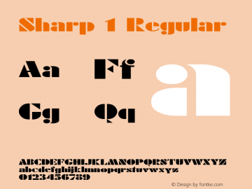 Sharp 1 Regular 1.0 Tue May 02 09:46:19 1995 Font Sample