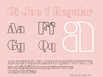 Gi Joe 1 Regular 1.0 Tue May 02 09:48:02 1995 Font Sample