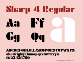 Sharp 4 Regular Converted from D:\FONTTEMP\RODCHENK.TF1 by ALLTYPE Font Sample