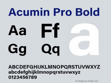 Acumin Pro Bold Version 1.011;PS 1.0;hotconv 1.0.86;makeotf.lib2.5.63406 Font Sample