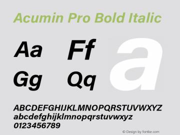 Acumin Pro Bold Italic Version 1.011;PS 1.0;hotconv 1.0.86;makeotf.lib2.5.63406 Font Sample