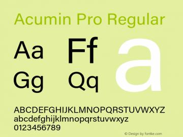 Acumin Pro Regular Version 1.011;PS 1.0;hotconv 1.0.86;makeotf.lib2.5.63406 Font Sample