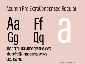 Acumin Pro ExtraCondensed Regular Version 1.011;PS 1.0;hotconv 1.0.86;makeotf.lib2.5.63406 Font Sample