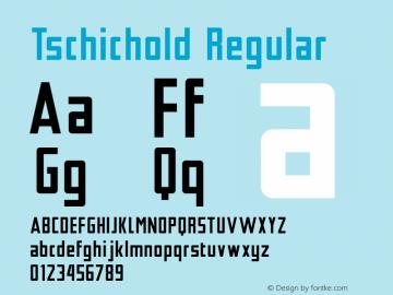 Tschichold Regular Version 1.000; ttfautohint (v1.3) Font Sample
