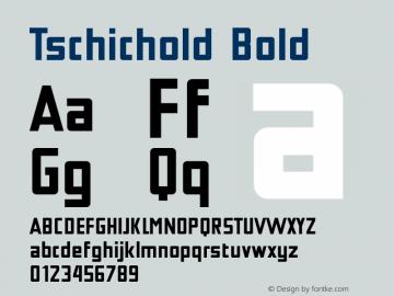 Tschichold Bold Version 1.000; ttfautohint (v1.3) Font Sample