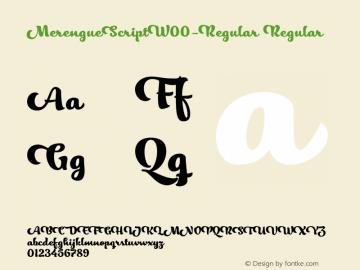 MerengueScriptW00-Regular Regular Version 1.00图片样张