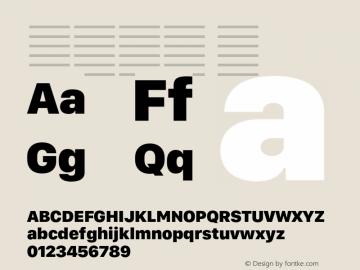 系统字体 黑 Version 2.000 Font Sample
