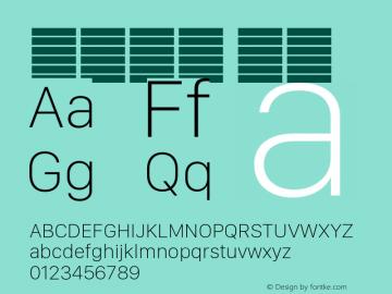 系统字体 瘦体 Version 2.000 Font Sample