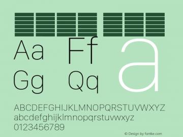 系统字体 超细体 Version 2.000 Font Sample