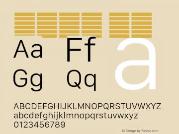系统字体 细体 Version 2.000 Font Sample