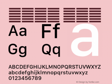 系统字体 中等体 Version 2.000 Font Sample