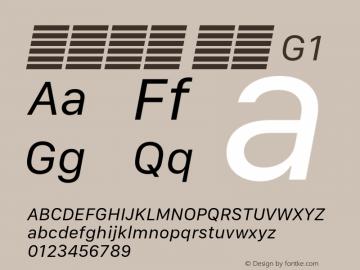 系统字体 斜体 G1 Version 2.000 Font Sample