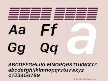 系统字体 半粗斜体 Version 2.000 Font Sample