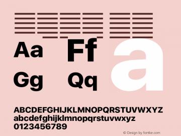 系统字体 粗体 Version 2.000 Font Sample