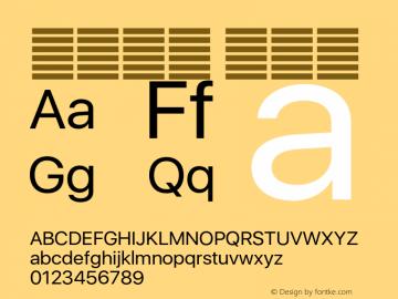 系统字体 常规体 Version 2.000 Font Sample