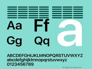 系统字体 半粗体 Version 2.000 Font Sample