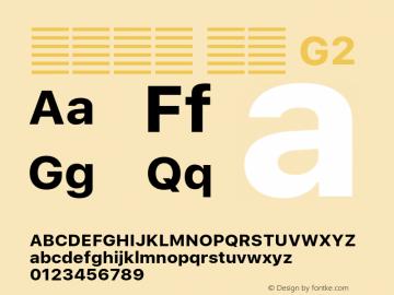 系统字体 粗体 G2 Version 2.000 Font Sample
