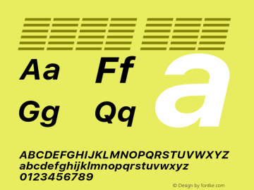 系统字体 粗斜体 Version 2.000 Font Sample