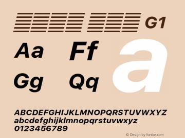 系统字体 粗斜体 G1 Version 2.000 Font Sample