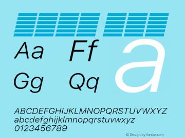 系统字体 细斜体 Version 2.000 Font Sample