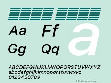 系统字体 中等斜体 Version 2.000 Font Sample