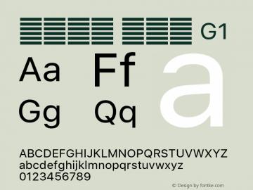 系统字体 常规体 G1 Version 2.000 Font Sample