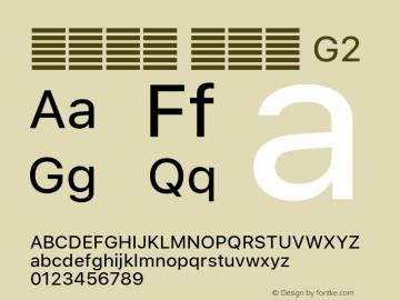 系统字体 常规体 G2 Version 2.000 Font Sample