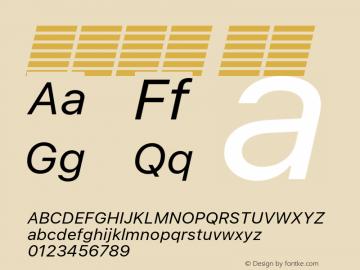 系统字体 斜体 Version 2.000 Font Sample