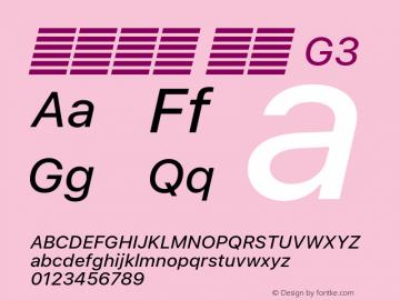 系统字体 斜体 G3 Version 2.000 Font Sample