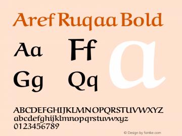 Aref Ruqaa Bold Version 0.4 Font Sample