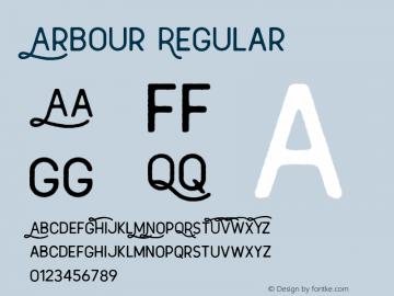 Arbour Regular Version 1.030 Font Sample