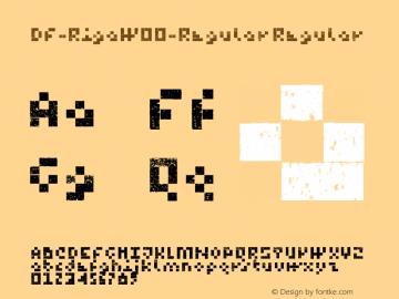 DF-RigaW00-Regular Regular Version 1.00 Font Sample