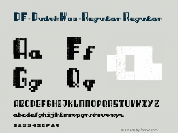 DF-DudokW00-Regular Regular Version 1.00 Font Sample