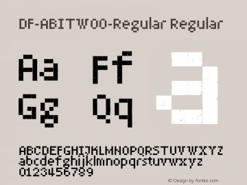 DF-ABITW00-Regular Regular Version 1.00 Font Sample