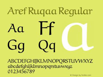 Aref Ruqaa Regular Version 0.5 Font Sample