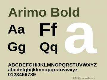 Arimo Bold Version 1.23; ttfautohint (v1.4.1) Font Sample