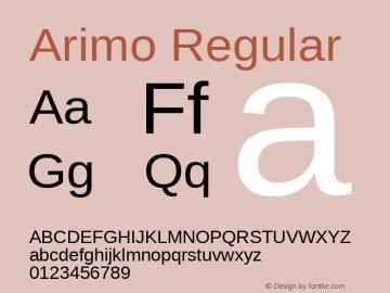 Arimo Regular Version 1.23; ttfautohint (v1.4.1) Font Sample