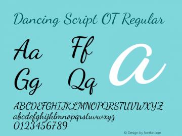 Dancing Script OT Regular Version 1.000; ttfautohint (v1.4.1) Font Sample