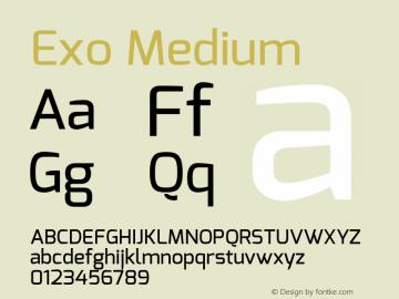 Exo Medium Version 1.00 ; ttfautohint (v1.4.1) Font Sample