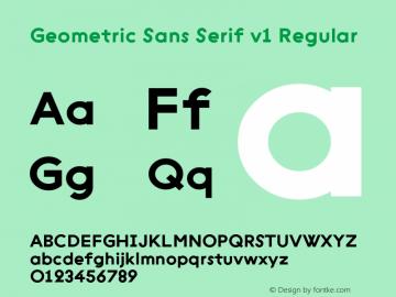 Geometric Sans Serif v1 Regular Version 001.001 ; ttfautohint (v1.4.1)图片样张