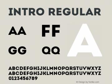 Intro Regular Version 1.000; ttfautohint (v1.4.1) Font Sample