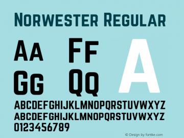 Norwester Regular Version 1.002;PS 001.002;hotconv 1.0.70;makeotf.lib2.5.58329; ttfautohint (v1.4.1) Font Sample