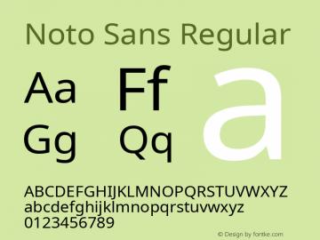 Noto Sans Regular Version 1.04; ttfautohint (v1.4.1) Font Sample