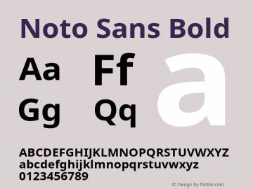 Noto Sans Bold Version 1.04; ttfautohint (v1.4.1) Font Sample