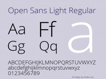 Open Sans Light Regular Version 1.10; ttfautohint (v1.4.1) Font Sample