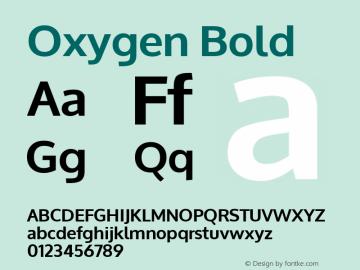 Oxygen Bold Version 1.000; ttfautohint (v1.4.1) Font Sample