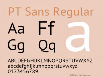 PT Sans Regular Version 2.005; ttfautohint (v1.4.1) Font Sample