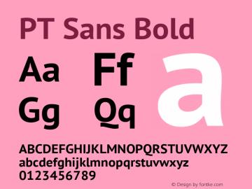 PT Sans Bold Version 2.005; ttfautohint (v1.4.1) Font Sample